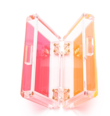 CC Skye Bright Love Clutch, Lucite Clutch, Neon Purse, Summer Purses