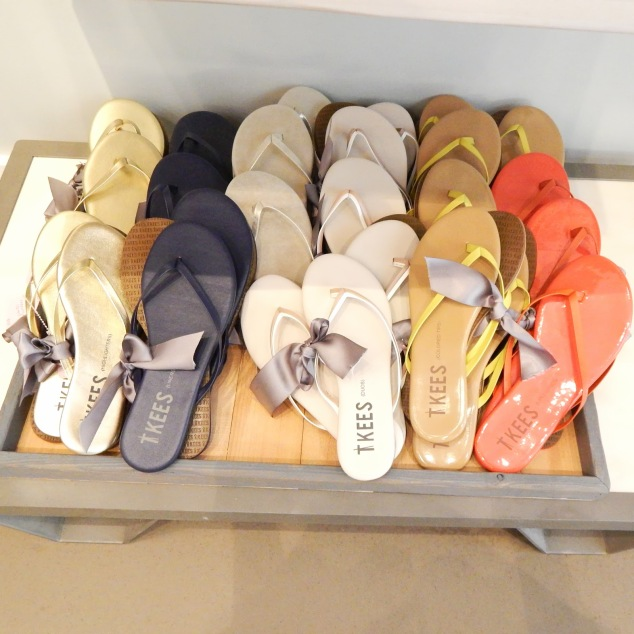 TKEES sandals flip flops shoes Calypso St. Barth Colorful San Jose Bay Area Santana Row Summer Shoes