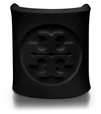 Black Lucite, Tory Burch Logo Cuff