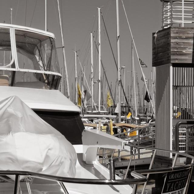 Selective Coloring Nikon Yellow Boats Yacht Club