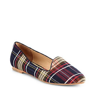 Preppy Flats, Tartan slippers, prep school shoes, work flats, fall flats, tartan ballet slippers