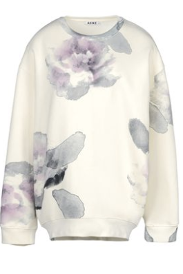 Acne, Watercolor floral, Floral Print, Sweatshirt, Chic Sweatshirt, New York Fashion, Acne Clothing
