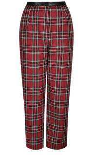 tartan trousers, topshop trousers, balloon trousers, leather and tartan trousers, day to night outfits