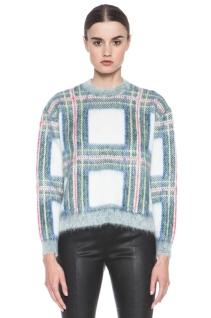 Stella McCartney sweater, tartan sweater, cropped tartan, Stella McCartney plaid swater