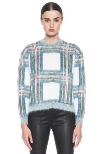 Stella McCartney sweater, tartan sweater, cropped tartan, Stella McCartney plaid swater