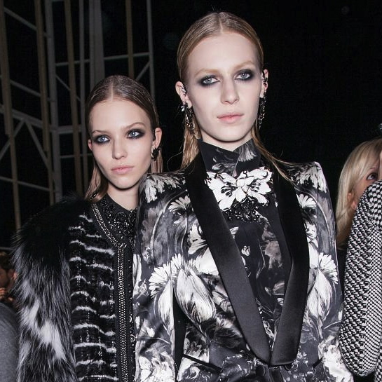 Roberto Cavalli Fall Hair, Fall Hair 2013, Fashion Week Hair, Slicked back