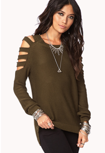 Cutouts, Open Shoulder sweater, Forever 21 Fall, Fall 2013 sweaters, Fall sweaters