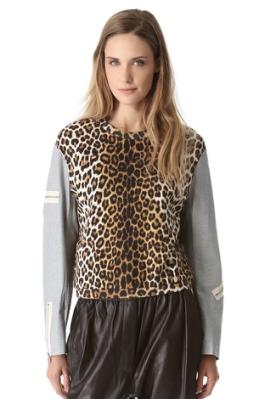 3.1 Phillip Lim Sweater, Leopard Sweater, 3.1 Phillip Lim Leopard Combo Sweater