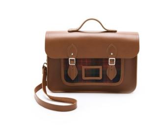 UK It Bag, Satchel purse, Tartan satchel, tartan purse, leather school bag