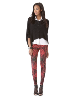 McQ leggings, Alexander McQueen leggings, Scottish schoolgirl outfit, british punk fashion