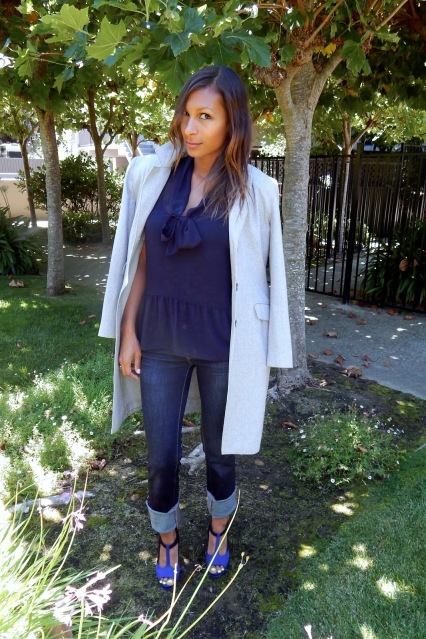 Fall 2012 Colors, Fall Hues, Navy and Gray, Fall Trends, Fall Go To Colors, Oversize Coat