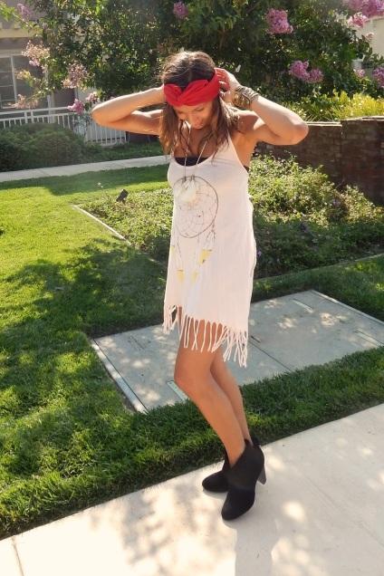 Dreamcatcher, Indian, Native American, American Apparel Turban, Jessica Simpson Orsona Booties, Jessica Simpson Booties
