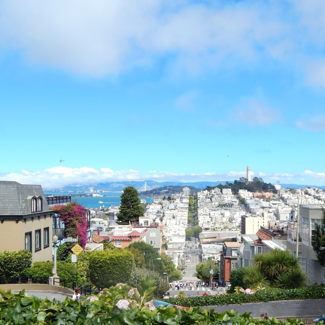 Lombard street san francisco, crooked street san francisco, san francisco attractions