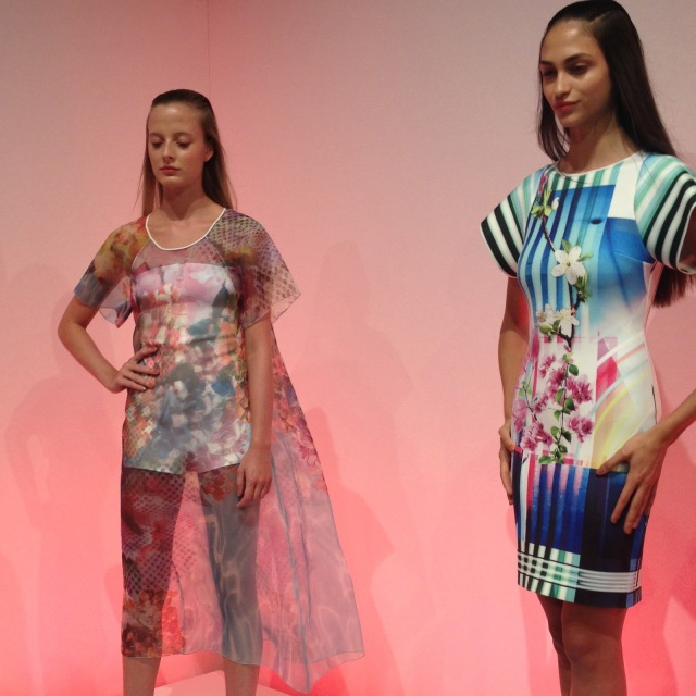 Neoprene print dresses, gauzy print summer dresses, floral print dresses, spring trends 2014