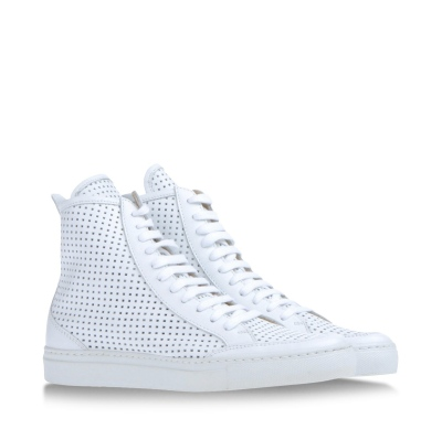 White High Tops, Margiela Sneakers, White Sneakers, White Leather Sneakers, Perforated White Leather