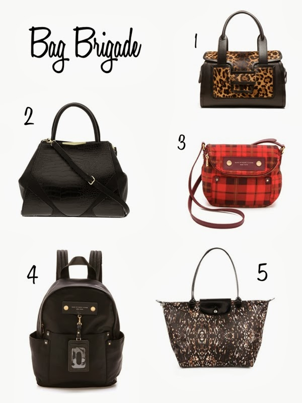 Danielle Nicole Adeline Satchel, Black structured bag, black structured bowling bag, Pierre Hardy leopard purse, Pierre Hardy Hairy Calf Leo and Nappa Calf Bag, Marc by Marc Jacobs Preppy Aimee plaid satchel, marc by marc jacobs plaid satchel, Longchamp animal print tote, longchamp le pliage tote, longchamp tote, Marc by Marc Jacobs backpack purse,