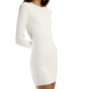 Little White Dress, Winter White Dress, Long sleeve White Dress, Longsleeved winter dress