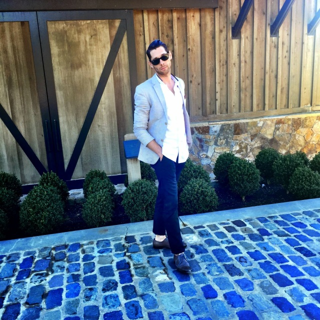 Topman Suit Coat, Topman jacket, Kooples shirt, zara pants, Alexander McQueen shoes, ray ban sunglasses, andrew trabulsi